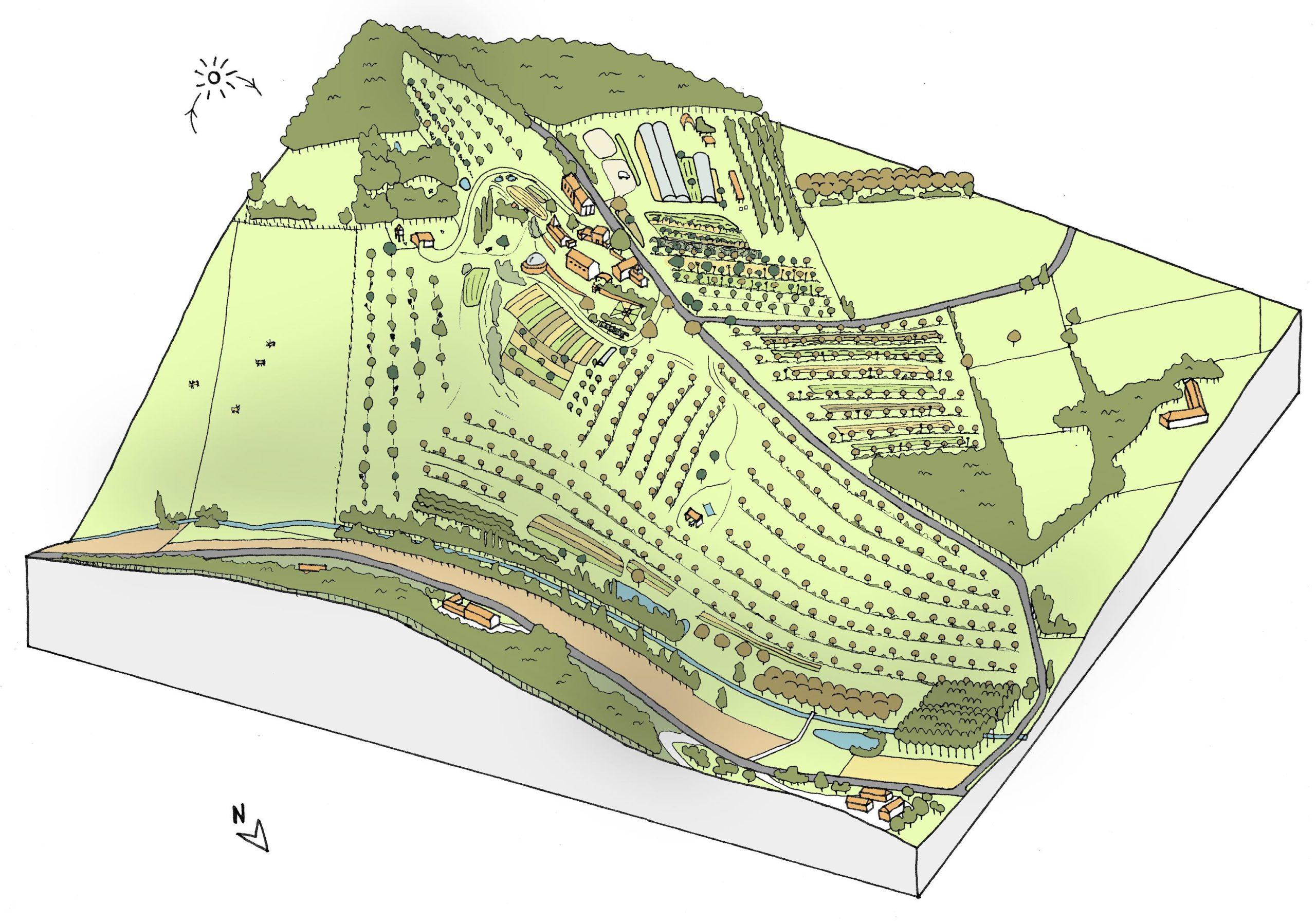 Carte 3D de la ferme de Cagnolle